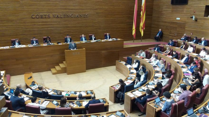 El president Ximo Puig interviene en el debate de política general en las Corts Valencianes