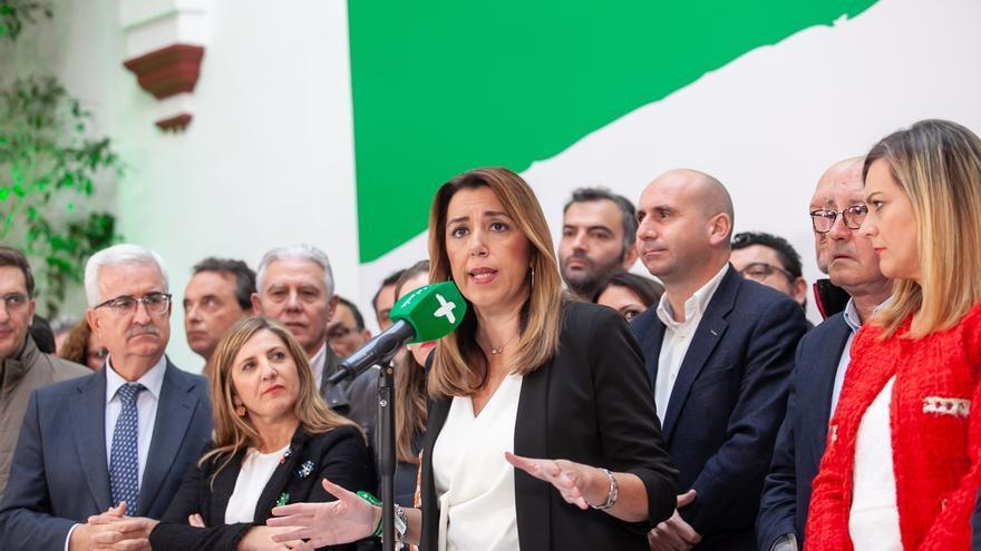 """Susana Díaz se ve con confianza para seguir """"liderando"""" el PSOE-A: """"Si hubiera perdido me habría ido"""""""