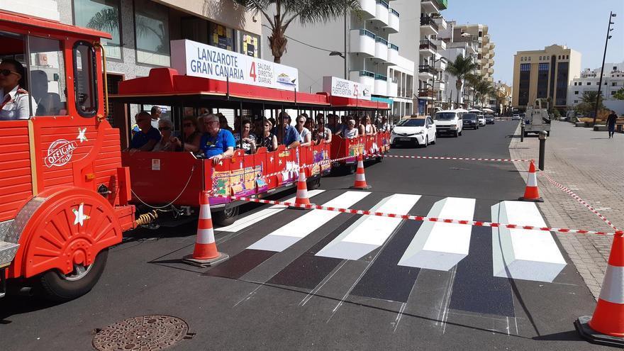 Paso de peatones en 3D en Lanzarote