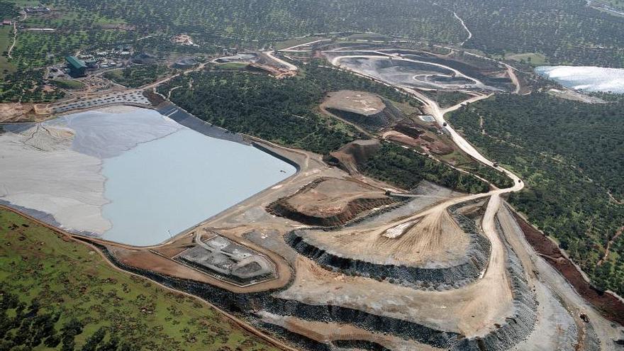 Vista aérea del complejo minero