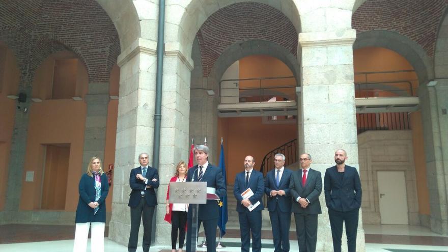 Comparece Ángel Garrido como nuevo presidente del Gobierno de Madrid en funciones