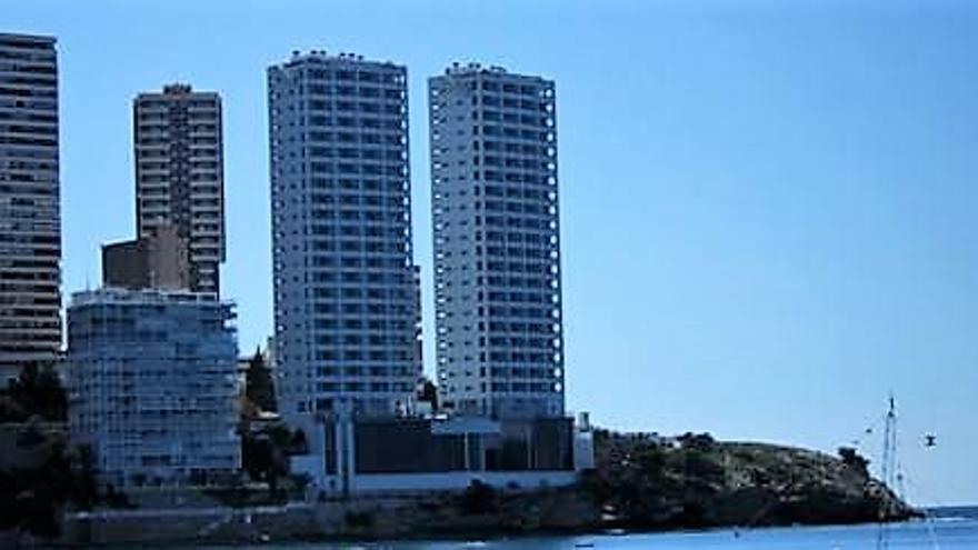 Las torres de 'Los Gemelos 28' en Benidorm