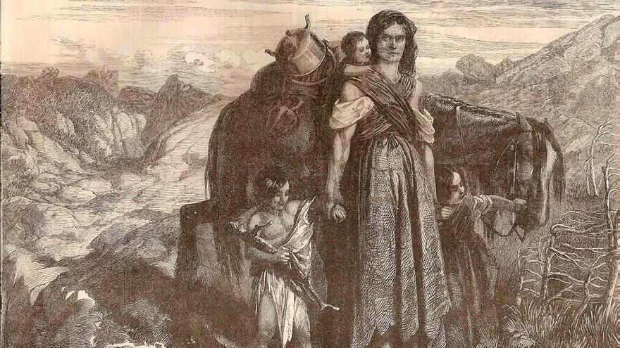 La viuda gitana (grabado, M. Schuler, 1858) Archivo Pretendemos Gitanizar el Mundo