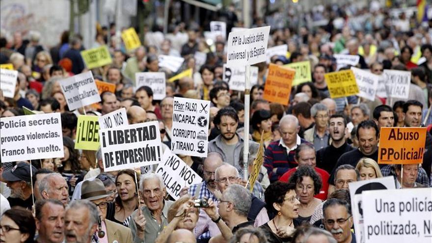 """Antidisturbios exigen en Valencia el """"respeto"""" de los mandos y los políticos"""