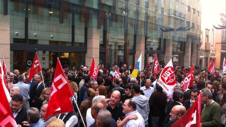 Protesta de empleados de Bankia en LPGC #2