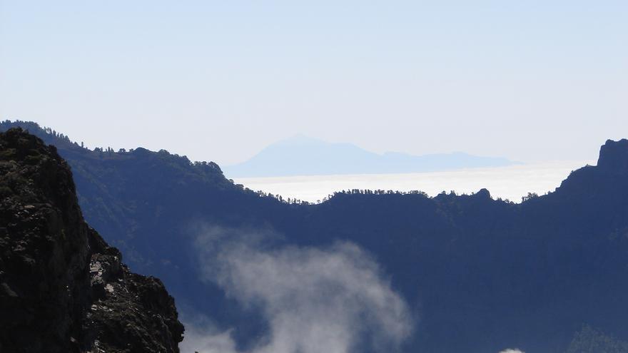 Vista de El Teide desde la zona de Tajodeque. Foto: CECILIO RODRÍGUEZ LÓPEZ.