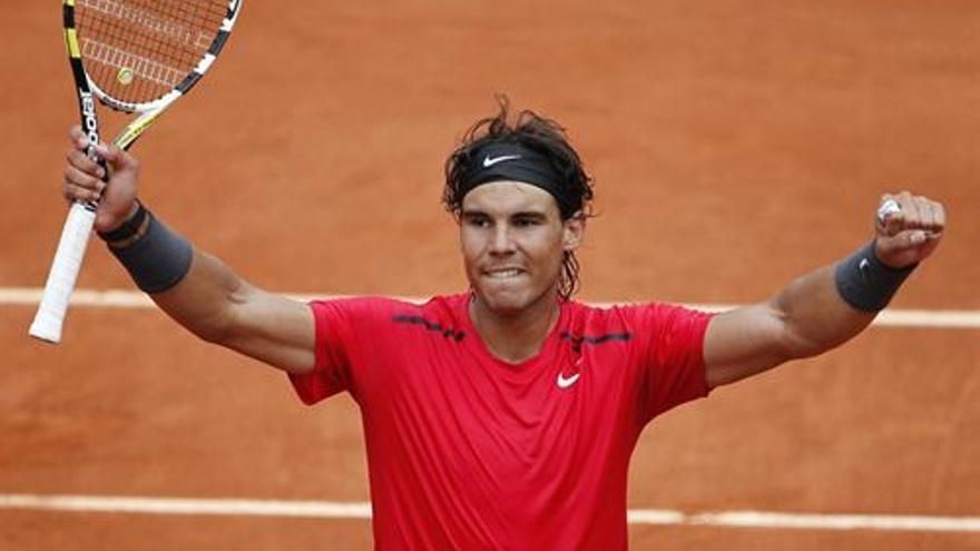Nadal celebra su pase a la final de Roland Garros (EUROPA PRESS).