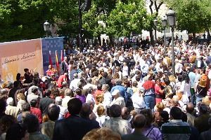 Un millar de personas se reunieron en torno al PSM en el Dos de Mayo | Foto A.P