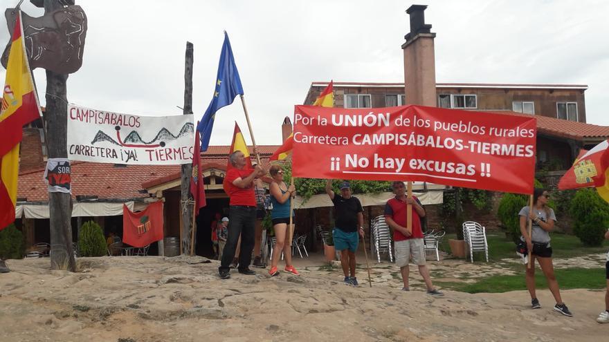 La marcha llegó hasta Montejo de Tiermes (Soria)
