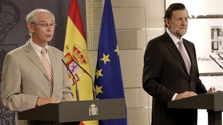 Rajoy y Van Rompuy niegan que España negocie su rescate con los países del euro