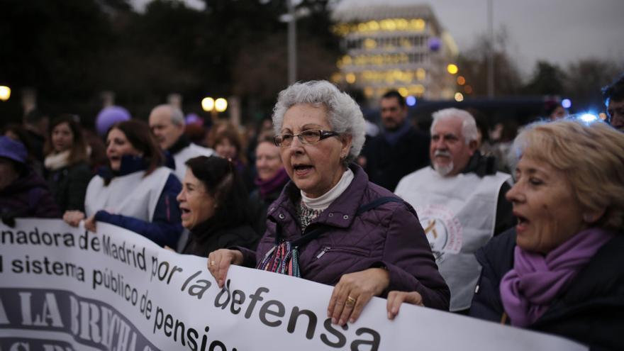 Manifestantes en la huelga feminista del 8M.