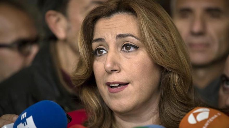 """Susana Díaz: El PSOE """"va a salir muy pronto y fuerte"""" de esta situación"""