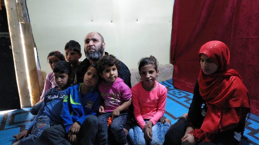 Koder Hussam perdió la vista cuando recibió el impacto de un ataque mientras huía en Al Quseir.
