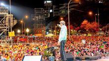 Juan Luis Guerra, durante el concierto celebrado en Santa Cruz de Tenerife