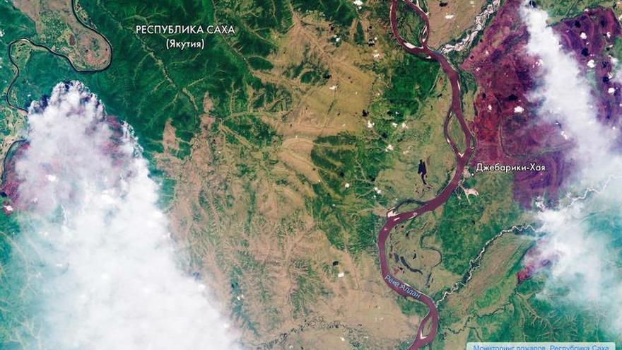 Los incendios en Siberia abarcan un superficie de 2,4 millones de hectáreas
