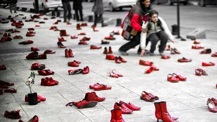 Protesta contra la violencia contra las mujeres