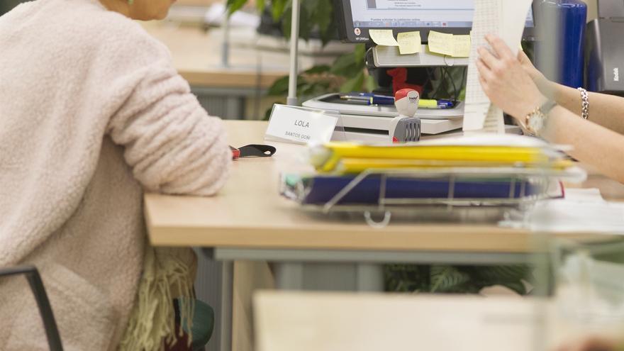 Oficina de un servicio público de empleo, en una imagen de archivo