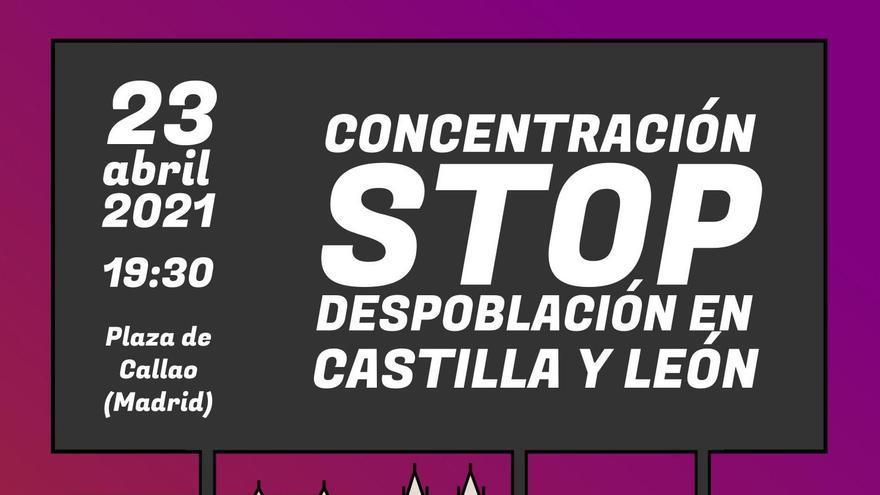Cartel de la concentración STOP Despoblación.
