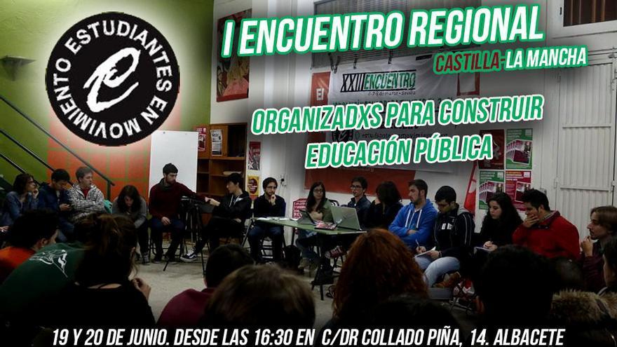 Cartel del I Encuentro regional de Estudiantes en Movimiento