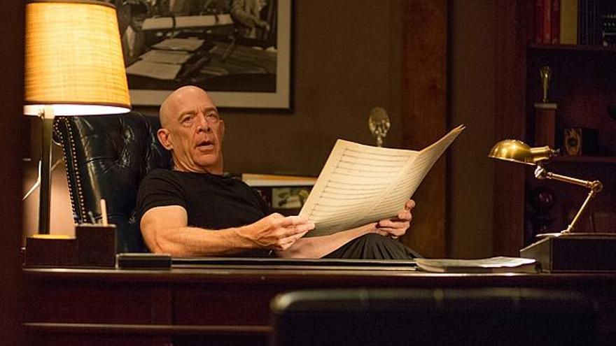 J. K. Simmons en 'Whiplash', candidato a un oscar por mejor actor secundario