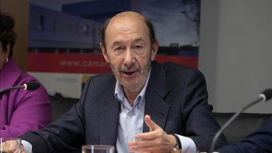 Rubalcaba: Podemos sólo quiere ganar al PSOE, nosotros queremos gobernar