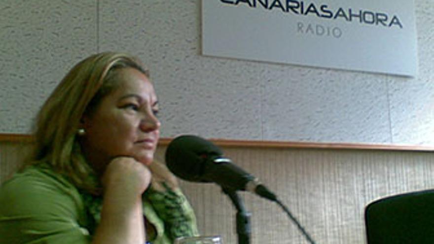 Mary Pita, este viernes en los estudios de CANARIAS AHORA RADIO.