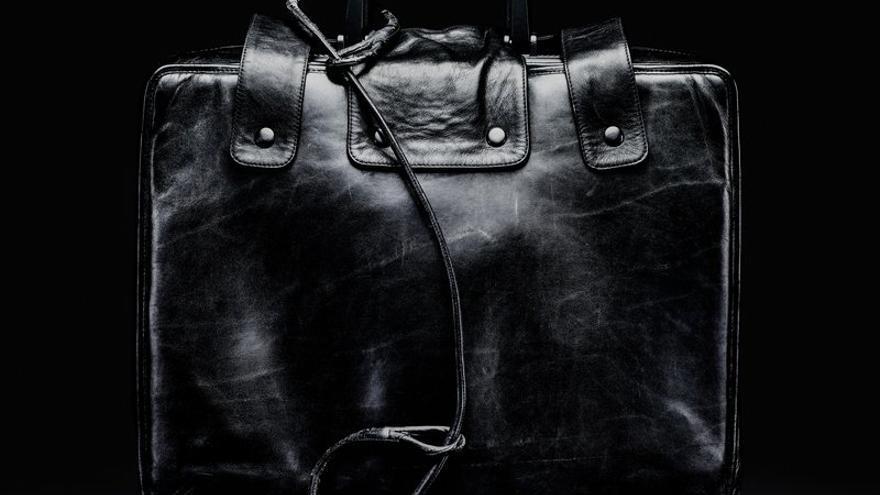 Un maletín nuclear ya retirado que se conserva en el Smithsonian National Museum of American History.