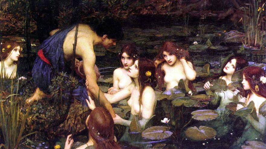 'Hylas y las ninfas' de John William Waterhouse