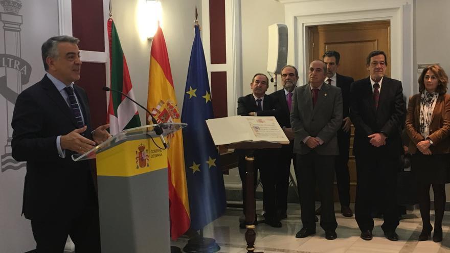 El delegado del Gobierno, Javier de Andrés, este martes en Vitoria