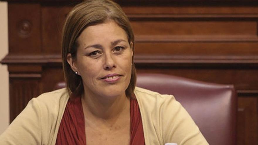 La diputada autonómica del Partido Popular y presidenta del PP de Lanzarote, Astrid Pérez. EFE.