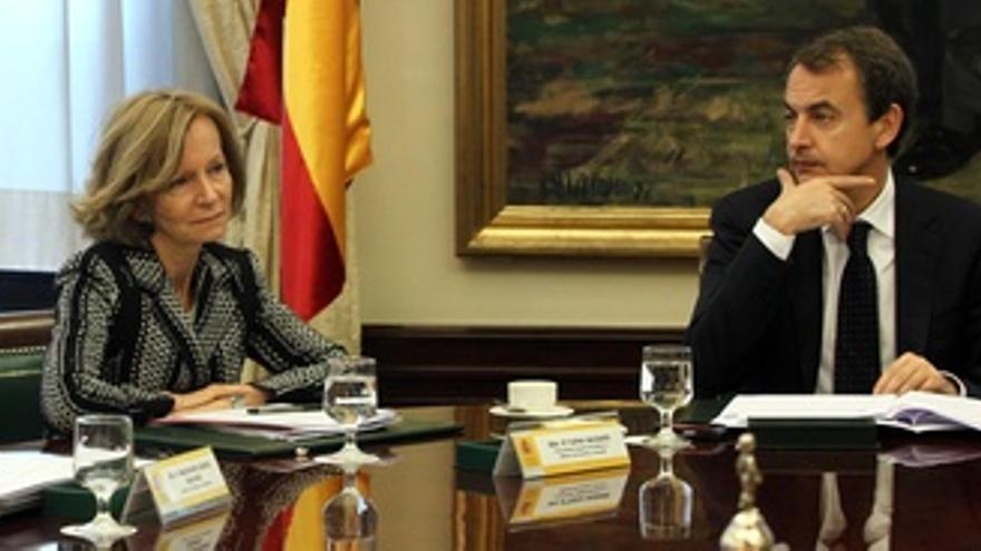 Elena Salgado y Rodríguez Zapatero