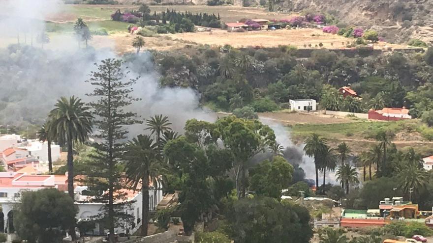 Incendio en La Calzada.