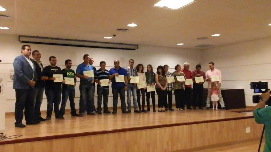 En la imagen, acto de reconocimiento a los queseros y queseras de la Denominación de Origen ganadores de premios regionales, nacionales e internacionales.
