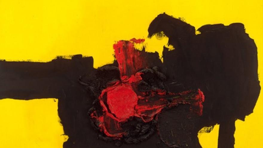 Número 460-A, obra de Luis Feito, que se encuentra en el Museo de Arte Abstracto de Cuenca