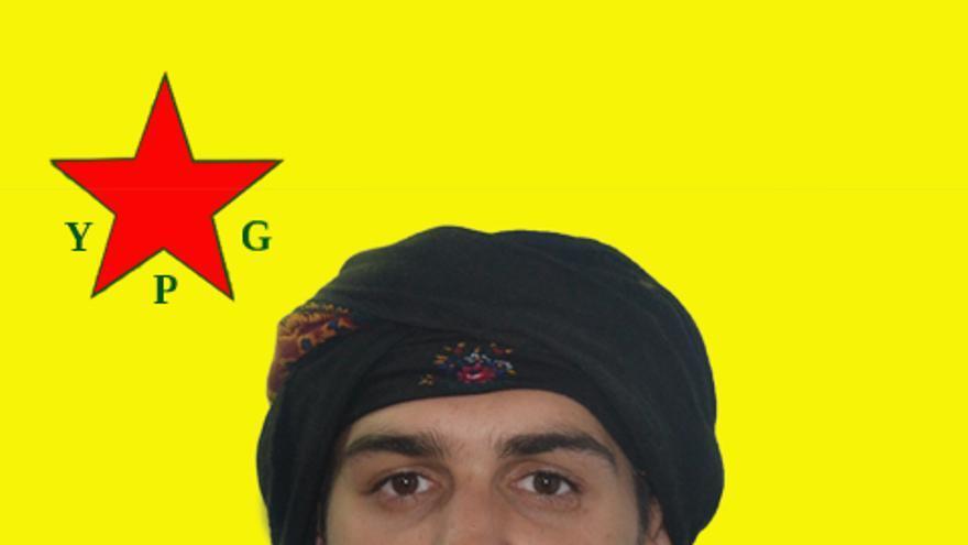 Samuel Prada Leon, alias Baran Galicia, en una imagen de las YPG