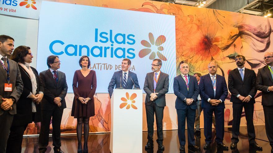 Inauguración del estand de Canarias en Fitur