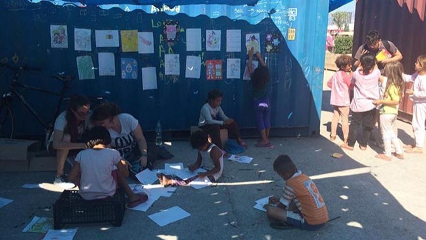 Imágenes del campo de refugiados en Atenas cedidas para este reportaje. (Diario de Lanzarote)