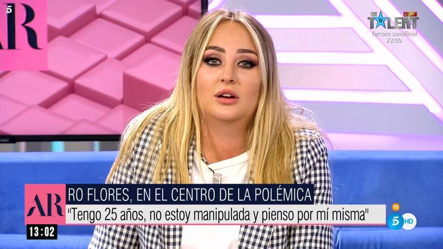 Rocío Flores se dirige a su madre en Telecinco