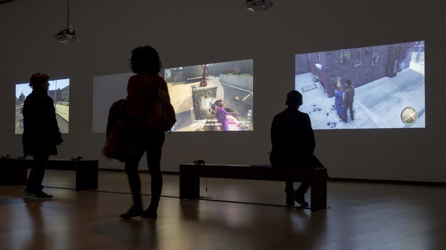 Varias de las imágenes de videojuegos que se pueden ver en la exposición