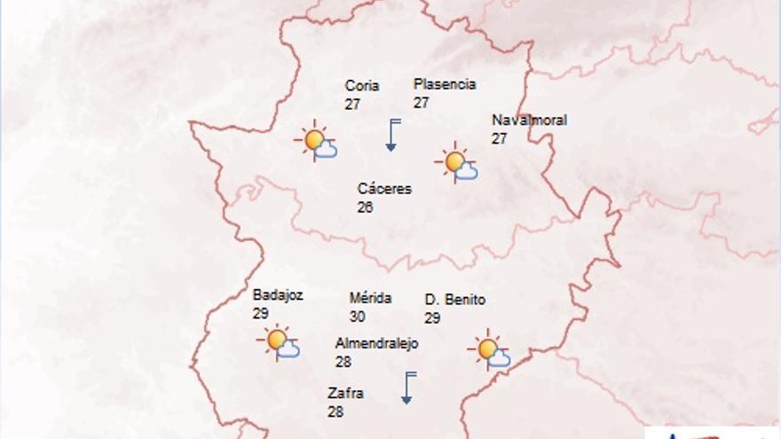 mapa extremadura 15 mayo