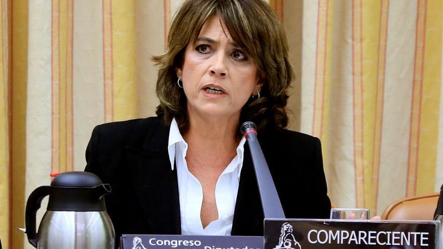 Dolores Delgado durante su comparecencia ante la Comisión de Justicia del Congreso.