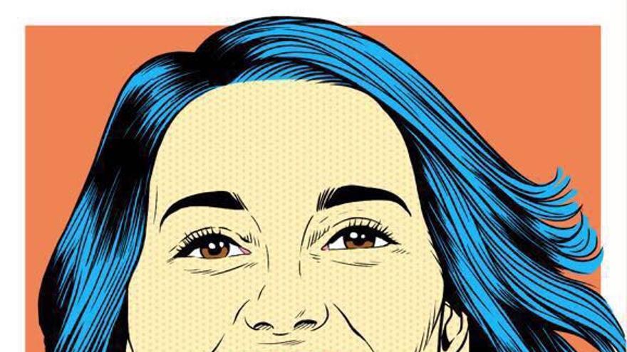 Dibujo de la candidata de Ciudadanos, Inés Arrimadas, para la campaña del 21D.
