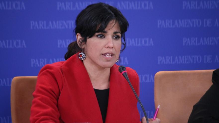 """Teresa Rodríguez rechaza que Podemos sirva de """"comparsa"""" al acuerdo PSOE-C's """"cuando planteamos una alternativa mejor"""""""