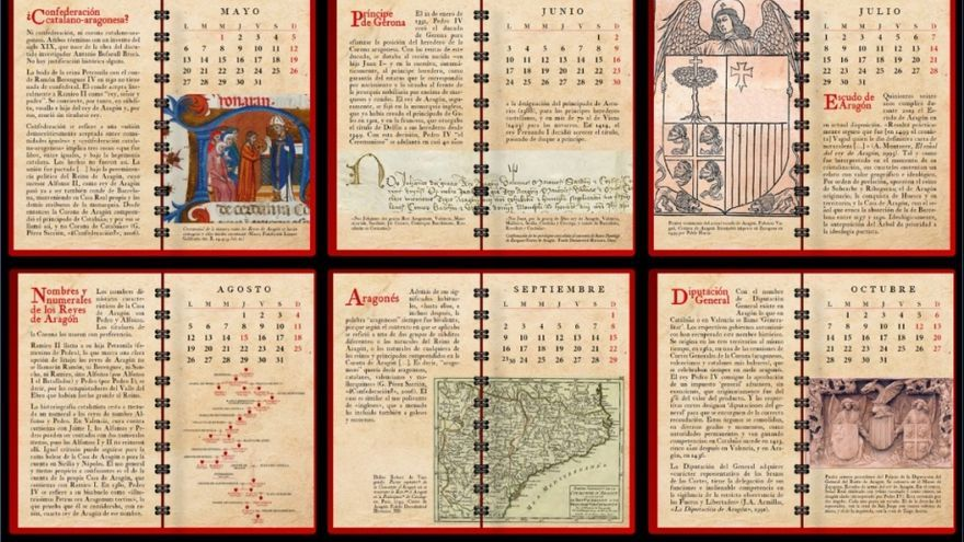 Felicitación de Navidad del presidente de Aragón, en forma de calendario