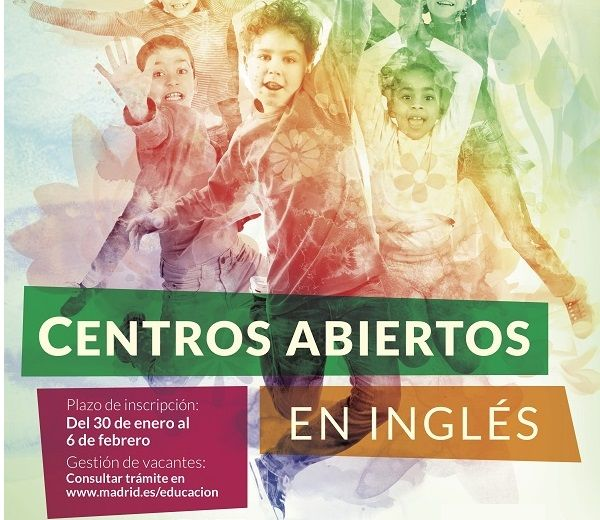 Detalle cartel Centros Abiertos Inglés Semana Santa 2018