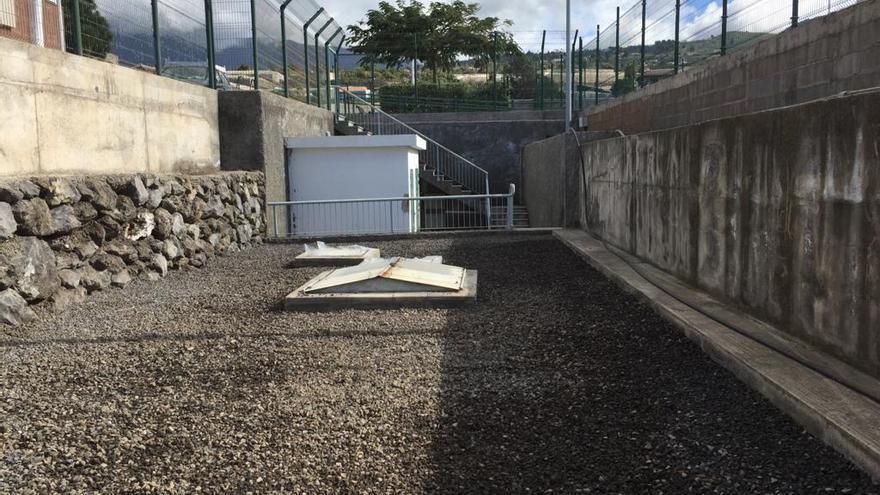 Obras en una depuradora de Los Llanos.