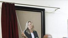 El retrato de exministra Trinidad Jiménez luce ya en Ministerio de Exteriores
