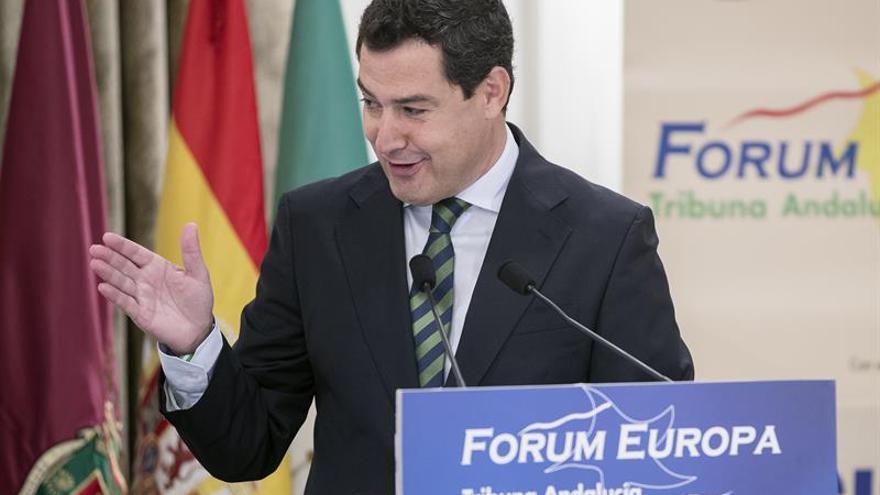 Moreno asegura que cualquier pacto en financiación debe tener el apoyo del PSOE