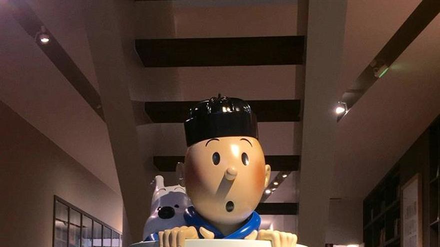 Bruselas dedica una galería de arte a Tintín, su héroe del cómic