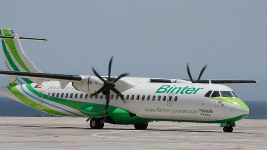 Aeronave tipo ATR de la compañía Binter